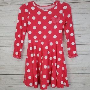 Carter's Girls Polka Dot Long Sleeve Circle Dress